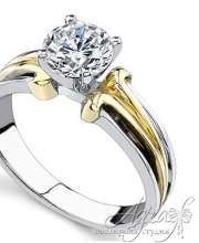Помоловочные кольца из золота с бриллиантами
