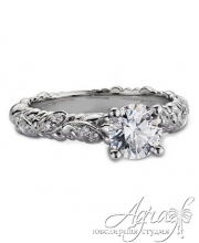 Помолвочное кольцо из белого золота 585 пробы с бриллиантом