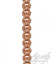 Браслет из золота - плетение Королевская мантия
