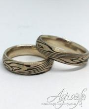 Дизайнерские обручальные кольца в технике Мокуме Гане