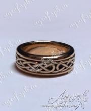 Обручальное кольцо с кельтским узором арт ow-005