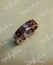 """Обручальное кольцо """"Радуга"""" арт ow-040"""