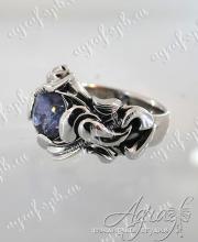 Перстень с александритом 2 карата в платине арт ow-142