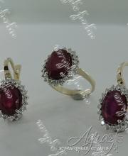 Гарнитур с рубинами арт ow-146