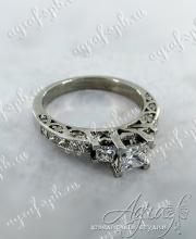 """Помолвочное кольцо """"Принцессы"""" арт ow-152"""