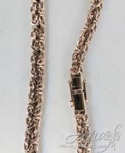 Браслет из золота - плетение Валькирия