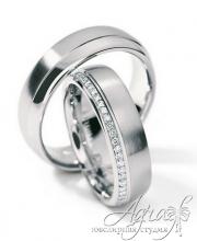 Обручальные кольца из платины арт wr-007