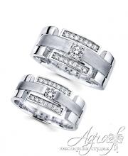 Обручальные кольца из платины арт wr-012
