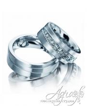 Обручальные кольца из платины арт wr-016