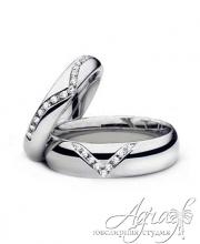Обручальные кольца из платины арт wr-022