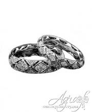 Обручальные кольца из платины арт wr-037