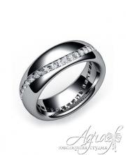 Обручальные кольца из платины арт wr-038