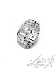 Обручальные кольца из платины арт wr-040