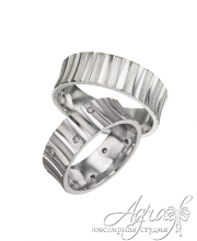 Обручальные кольца из платины арт wr-051