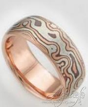 Обручальные кольца Мокуме арт wr-742