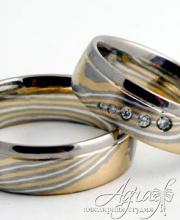 Обручальные кольца Мокуме арт wr-790